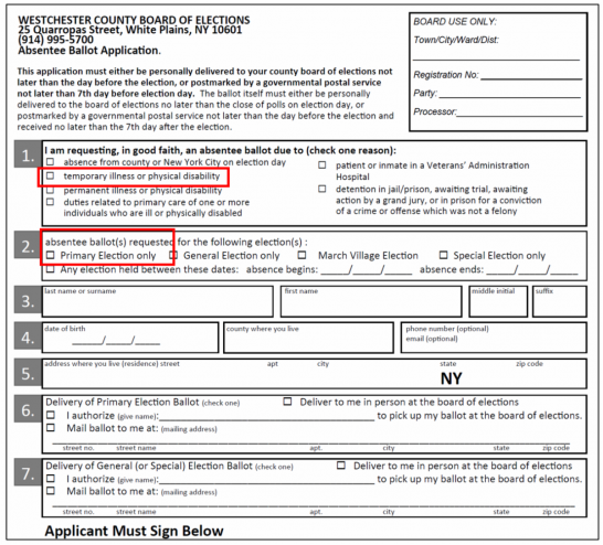 How To Get An Absentee Ballot In Westchester Ny