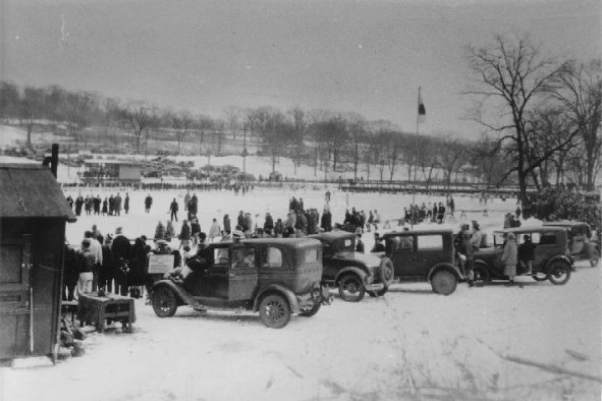 Skating at Woodlands Park Circa 1930s